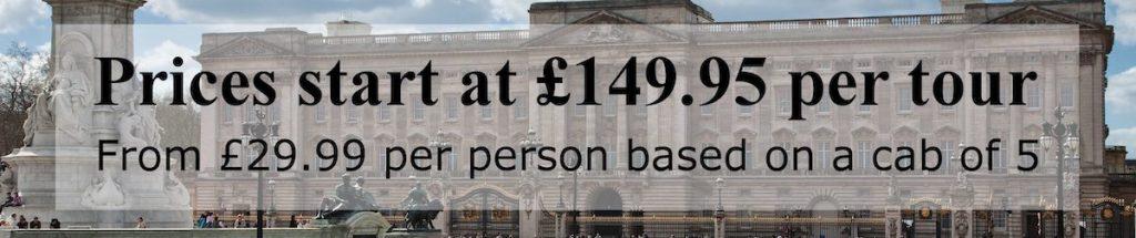 black cab london tour prices